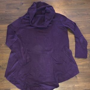 The limited purple tunic with cowl neck